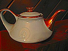 Hall Aqua  Pearl China Aladden Tea Pot. Click on the image for more information.