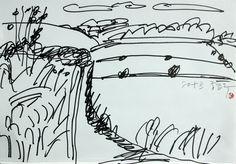 https://www.facebook.com/sahong.gum Drawing (再解釋) 2014年, David Hockney, 금사홍, 드로잉