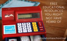 Free educational resources you might not have heard of - Simple Homeschool - Michelle Anders Teaching Tools, Teaching Kids, Free Homeschool Curriculum, Homeschooling Resources, Common Core Math Standards, Money Saving Mom, Home Schooling, Early Childhood Education, School Projects