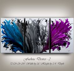 Painting, Abstract Art, Large Wall Art Blue Contemporary Art Original Abstract Painting on Canvas Wall Hanging Home Decor Modern Art Nandita