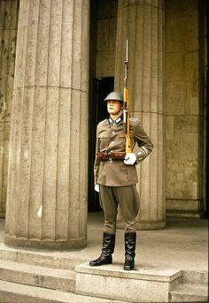 East Berlin   Guard, War Memorial Building - 1974   by suey_j