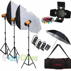 Godox 900W pro Photo Photography Studio Strobe Flash softbox Lighting stand Kit
