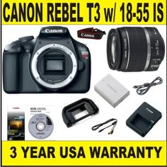 85 best electronics camera photo images on pinterest digital canon rebel t3 122 mp body supplied manufacturer accessories w canon 18 fandeluxe Gallery