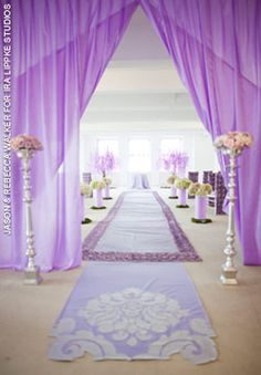 Moonbeam Purple custom aisle runners