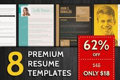 Check out 62% Off: Resume Templates Bundle by Visual Impact on Creative Market