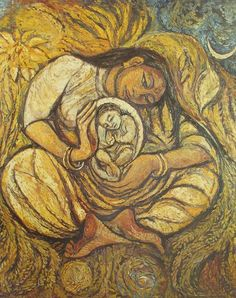 Mary as the Dalit Mother. Oil on Canvas. Methodist Collection, Westminster College, Oxford. U.K.