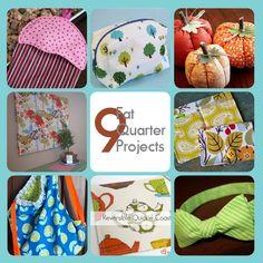 9 Fat Quarter Projects #sewing #DIY