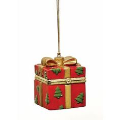 Shop for Christmas Decoration - Porcelain Surprise Ornaments Box - Red Tree Box. Get free delivery On EVERYTHING* Overstock - Your Online Home Decor Shop! Top Christmas Gifts, Christmas Books, Christmas Themes, Christmas Ornaments, Rustic Christmas, Unique Gifts, Best Gifts, Snow Theme, Tree Box