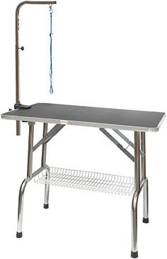 Go Pet Club Heavy Duty Stainless Steel Pet Dog Grooming Table with Arm, 48-Inch  http://www.bestdiscountpetsupplies.com/go-pet-club-heavy-duty-stainless-steel-pet-dog-grooming-table-with-arm-48-inch-2/