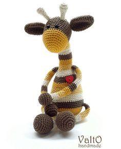 Жираф амигуруми схема игрушки крючком