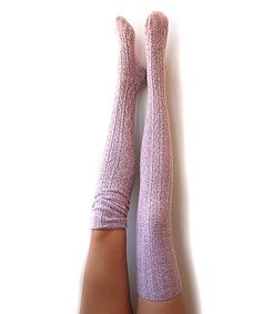 This Peony and Moss Marled Ballet Pink Dip-Dye Thigh-High Socks by Peony and Moss is perfect! #zulilyfinds