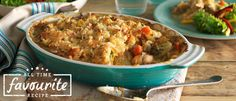 Easy Chicken Vegetable Bake recipe from Food in a Minute