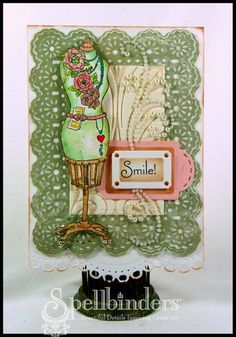 "#S4-392 Spellbinders ""Shapeabilities"" Collection ""Framed Tags One"" #2/2 card sample  (Site: photo only)"