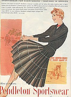 Pendleton sportswear ad 1958