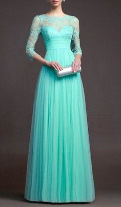turquoise gown - absolutely gorgeous!