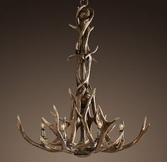 Adirondack Antler 6-Arm Chandelier- dining room or in great room near fireplace