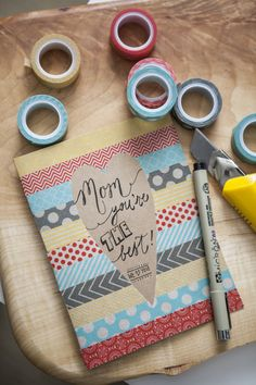This DIY Mother's Day card is oh so easy to make and yet oh so pretty! Pretty your card up with washi tape!