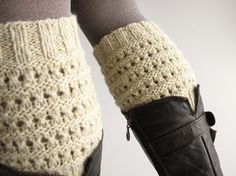 Hand Knitted Openwork Boot Cuffs  Boot Toppers Leg by milleta on Etsy www.etsy.com/your/shops/milleta
