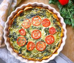 Zucchini and Kale Quiche with a Sweet Potato Crust (Paleo, GF) | Perchance to Cook | Perchance to Cook