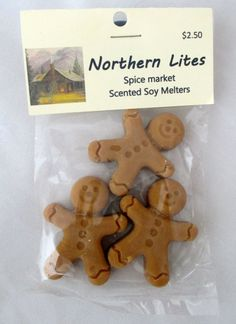 Spice Market Scented Soy melters - Gingerbread boys, scented candles, soy candles, soy tarts, cinnamon candle, candle tarts on Etsy, $2.50