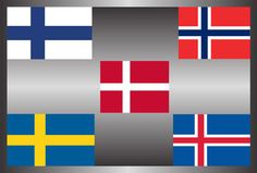 Scandinavain group flag Contries