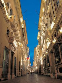 Via Garibaldi, in the heart of Genoa; here there are the City Hall and some of the most important museums in the city.