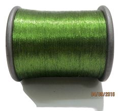 1 Spool Metallic Light Green Embroidery Thread, Hand/Machine Embroidery Thread…