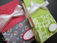 A fun card box taught to me by Terri Gaines: Stamp Your Art Out!