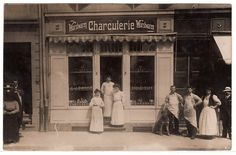 Metzgerei Fleischerei Charcuterie Geschäft , butcher store Foto RPPC c.1910 | eBay