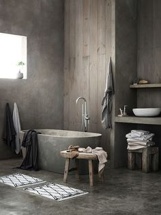 bathroom made in concrete...