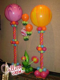 Beautiful balloon column - Balloon Crew