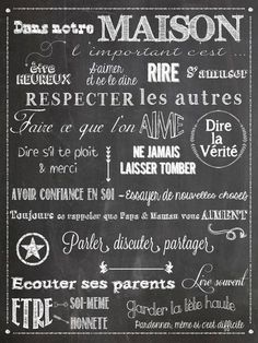 Family rules in French - For the bookshelves? Quotes By Famous People, People Quotes, Positive Mind, Positive Attitude, Quote Citation, Family Rules, French Quotes, Some Words, Positive Affirmations