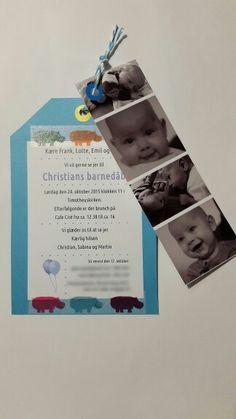 Indbydelse til Christians barnedåb