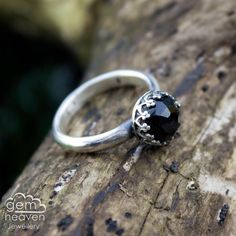 Gothic Ring with Black onyx gemstone  - Elegance - by gemheavenjewellery on Etsy https://www.etsy.com/uk/listing/255201139/gothic-ring-with-black-onyx-gemstone