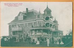 Benton Harbor Michigan MI House of David Israelite Colony Residence Postcard