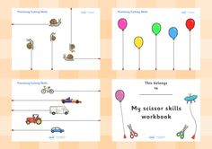 Twinkl Resources >> Scissor Cutting Skills Booklet >> Printable resources for Primary, EYFS, KS1 and SEN. Thousands of classroom displays and teaching aids! Scissor Control, Work Books