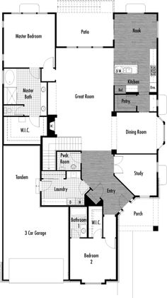 St. Andrews floor plan from Lennar Colorado - 2,547 sq. ft. / 1 story / 2 bedrooms / 2.5 bathrooms