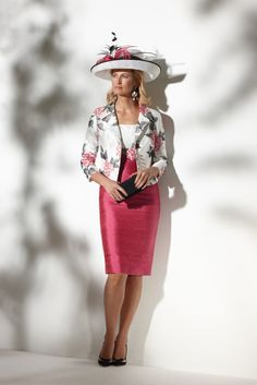 Condici 90381.A stunning bright floral jacket with co-ordating dress.Condici hat and fascinator available.