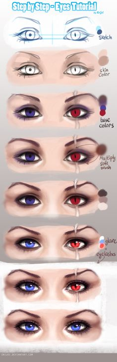 +Step by Step - Eyes+ by Enijoi on DeviantArt