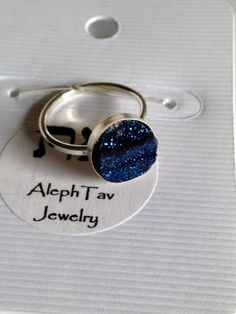 "Blue Druzy Quartz Cabochon Gemstone ""Unity"" Sterling Silver Ring by ALEPHTAVJEWELRY on Etsy https://www.etsy.com/listing/199156241/blue-druzy-quartz-cabochon-gemstone"