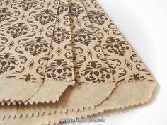 Damask Print Paper Bags, Set of 100 | My Craft Supplies