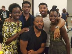 The Black Panther cast & director at SDCC! From left to right: Danai Gurira (Okoye, the leader of the Dora Milaje), Chadwick Boseman (Black Panther), Ryan Coogler (director), Michael B. Captain Marvel, Captain America, Marvel Heroes, Marvel Vs, Black Panther Marvel, Black Panther 2018, Joss Whedon, Steve Rogers, Hulk