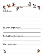 Kids Printable Disney Travel Journal - from The Mouse For Less