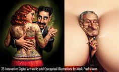 25 Innovative Digital Art works and Conceptual illustrations by Mark Fredrickson. Follow us www.pinterest.com/webneel
