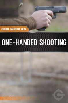 One Handed Shooting Tips | Survival Gun Training and Ideas by Gun Carrier http://guncarrier.com/one-handed-shooting-tips-ruger-tactical-tips/