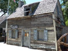 https://flic.kr/p/hmhqEf | THE OLDEST WOODEN SCHOOLHOUSE IN THE USA, ST. AUGUSTINE, FLORIDA | The schoolhouse is located in the Colonial Quarter of St. Augustine.