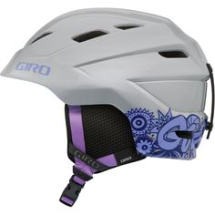 Extreme Sports Trader Giro Nine.10 Jr Girl Youth Helmet In Silver Doodle