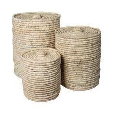 Granit.com - Basket Plamleaf with lid Large | Granit.com