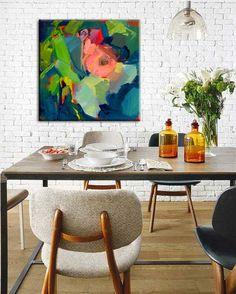 $599 140 x 140 BUDDING BLUE [HP-845300] - $261.75 | United Artworks | Original art for interior design, buy original paintings online