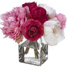 Peony silk arrangement silk flowers and peony mightylinksfo